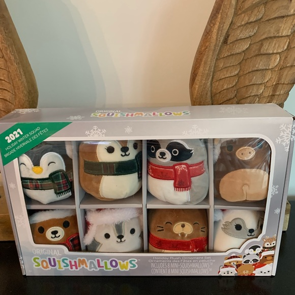 Squishmallow holiday ornament pack of 8